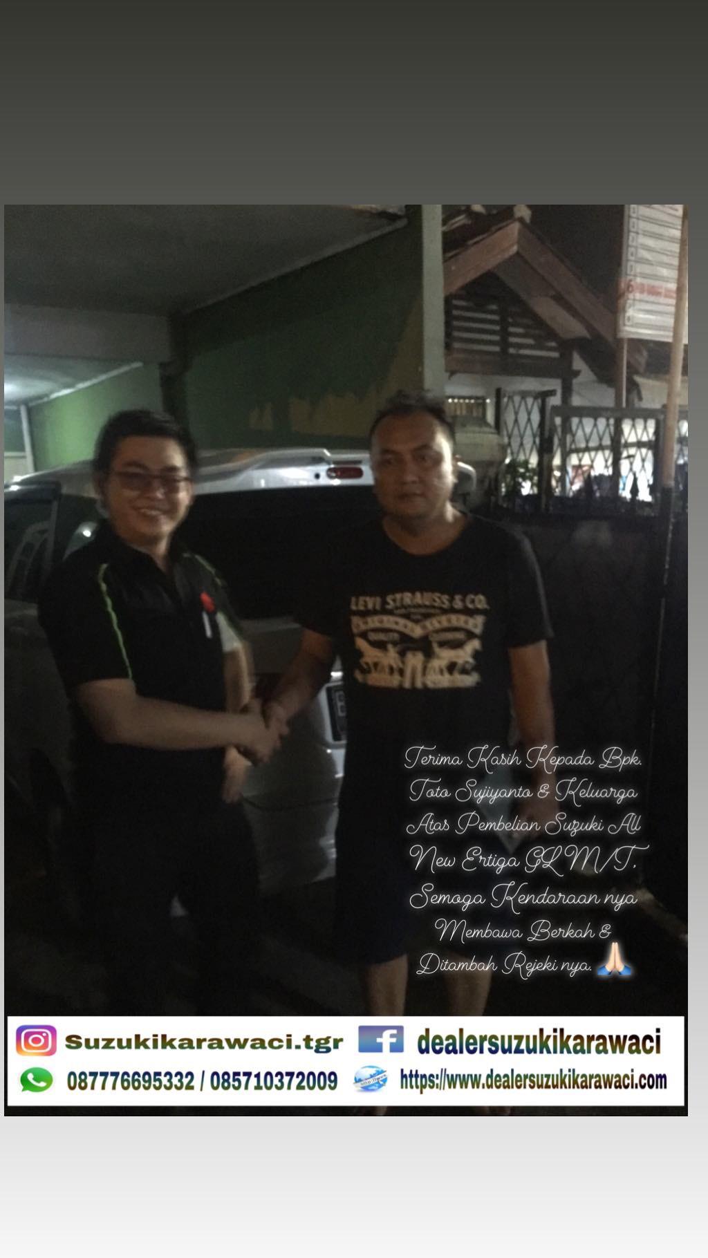 Delivery suzuki Bpk Toto Sujiyanto & Keluarga